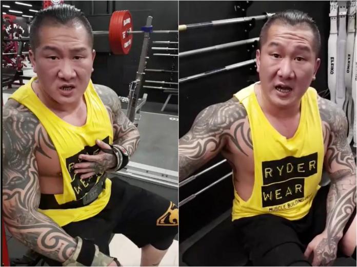 ▲網友向館長下戰帖,更嗆聲「你只是比較壯的健身教練」。(圖/翻攝自飆捍臉書)