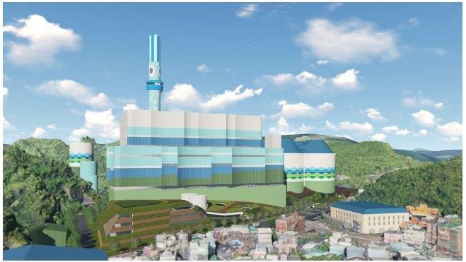 ▲深澳電廠更新計畫採超臨界機組,且縮小規模,降低對環境影響。圖為深澳更新計畫完工示意圖。(圖/台電提供)