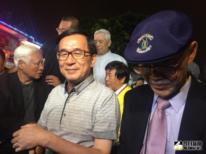 ▲前總統陳水扁已預告五月將北上參加凱達格蘭基金會的募款餐會,屆時可能又「踩紅線」。(資料照/記者蔡坤霖攝)