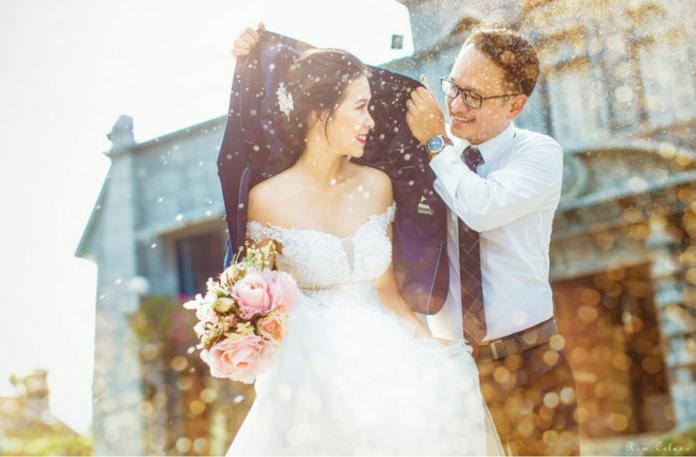 笑翻!新人<b>唯美</b>婚紗照 浪漫意境竟是這樣拍