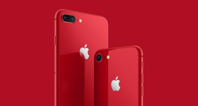 ▲蘋果公司正式公布 iPhone8 與 8 plus 紅色版本。(圖/翻攝自蘋果公司官網)