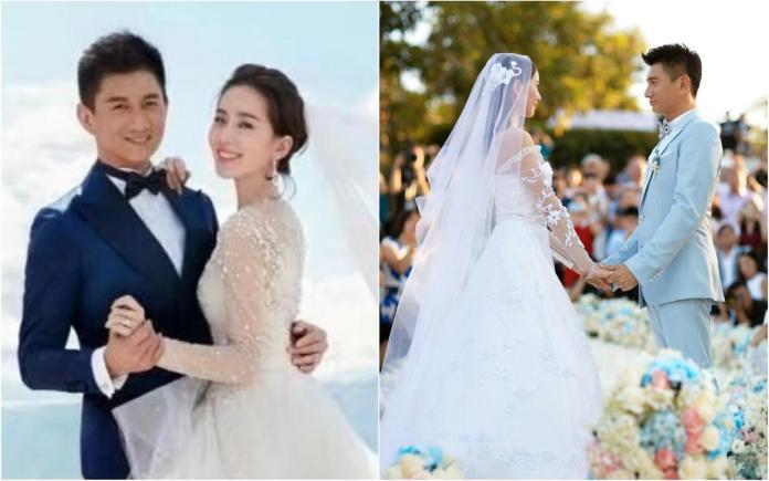 ▲吳奇隆(左圖左)與劉詩詩(左圖右)結婚6年甜蜜蜜。(圖/翻攝自微博)