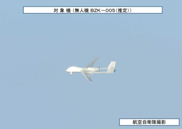 大陸無人機進入防空識別區 日本派軍機監控