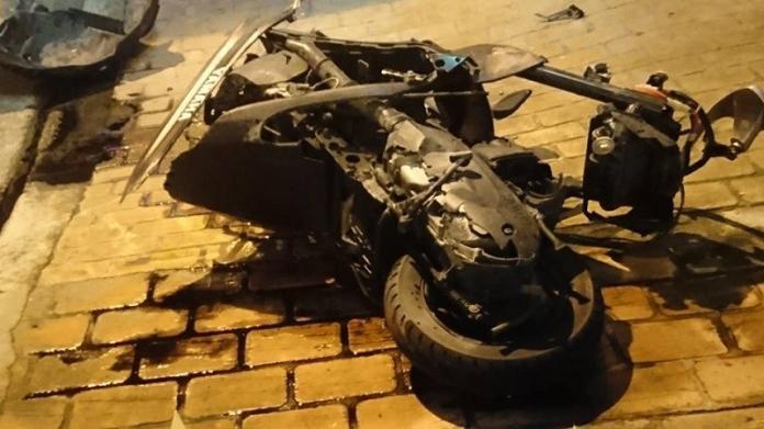 ▲機車騎士遭酒駕轎車駕駛衝撞,傷重送醫不治。(圖/翻攝自「台灣新聞記者聯盟資訊平台」臉書)