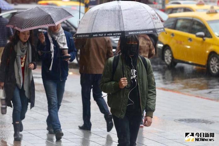 今日天氣/北台灣整日<b>溼冷</b> 明白天起回溫