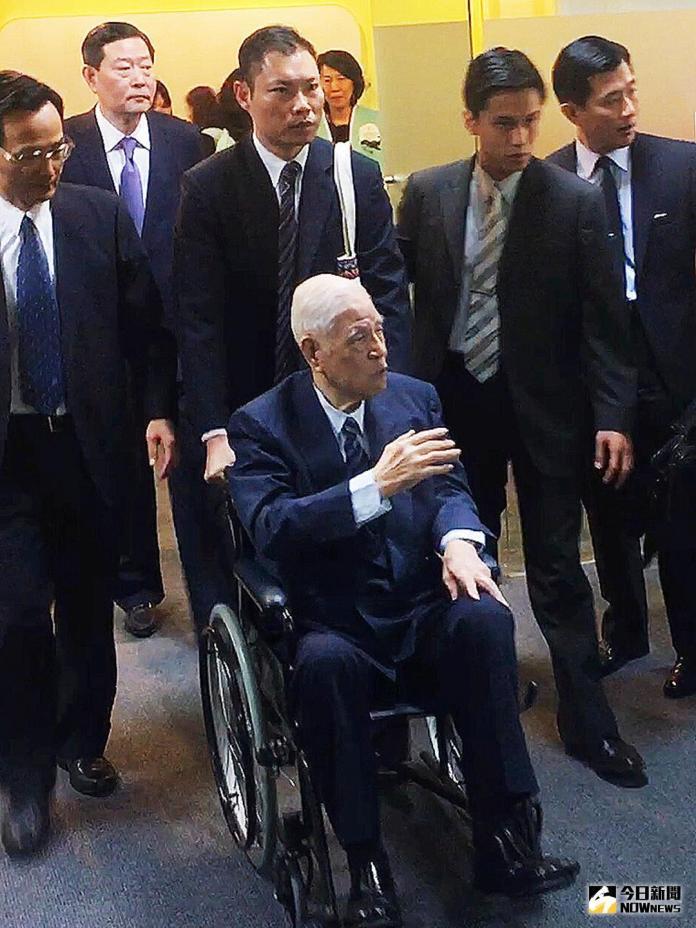▲前總統李登輝到場支持喜樂島聯盟成立。(圖/記者陳佩琪攝 , 2018.04.07)