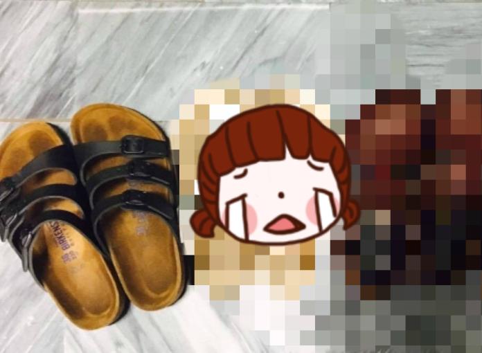 ▲一名網友在淘寶網買了一雙勃肯鞋,僅要價 599 元,賣家打包票「假的一賠三」,不料開箱後實品卻讓他哭笑不得。(圖/翻攝自爆廢公社)