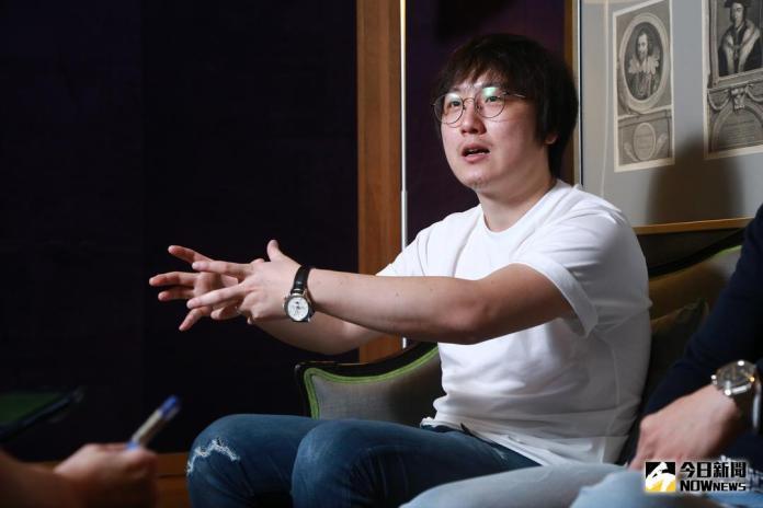 ▲張林子導演談到被台灣資深演員「欺負」的那段經歷,並不以為意,還一直表示對方說的一些方法,其實是對的。(圖╱記者葉政勳攝,2018.05.03)