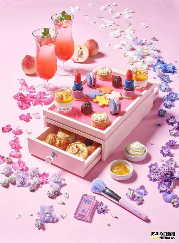 當甜點遇上彩妝!花漾下午茶 鹹甜交織勾勒少女心