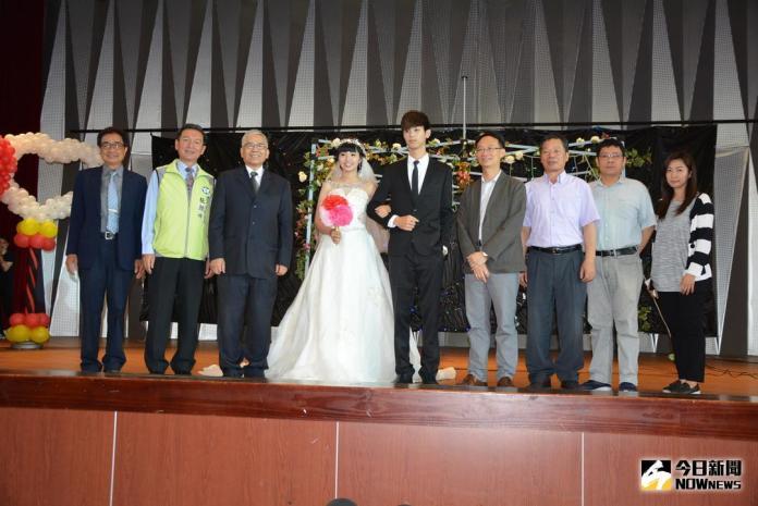 ▲嘉義市副市長張惠博主持設計之新人婚禮。(圖/記者郭政隆攝影2018.5.18)
