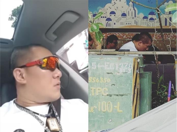 ▲朝聖「丹丹漢堡」好期待,館長抬頭一看臉都綠。(圖/翻攝自 YouTube/爆廢公社)