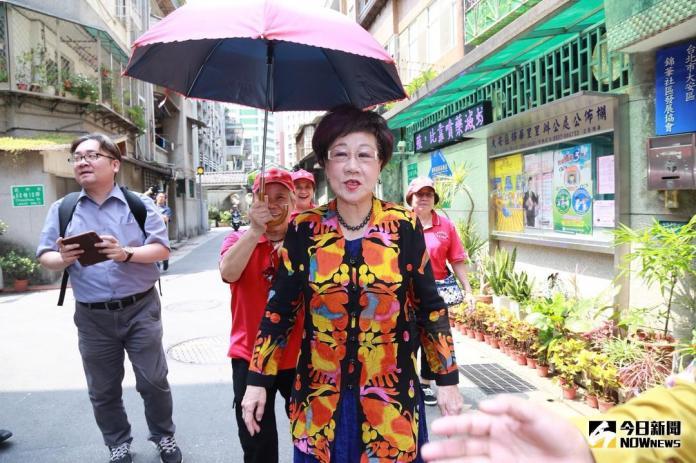 ▲正在爭取民進黨台北市長提名的前副總統呂秀蓮。(圖/記者葉政勳攝 , 2018.05.24)