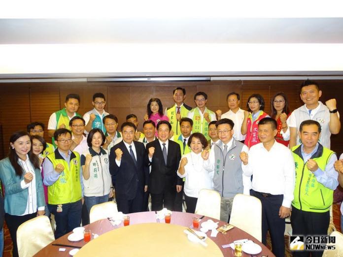 ▲賴清德今天與民進黨台南市長和市議員參選人餐敘。(圖/記者黃文博攝,2018.06.02