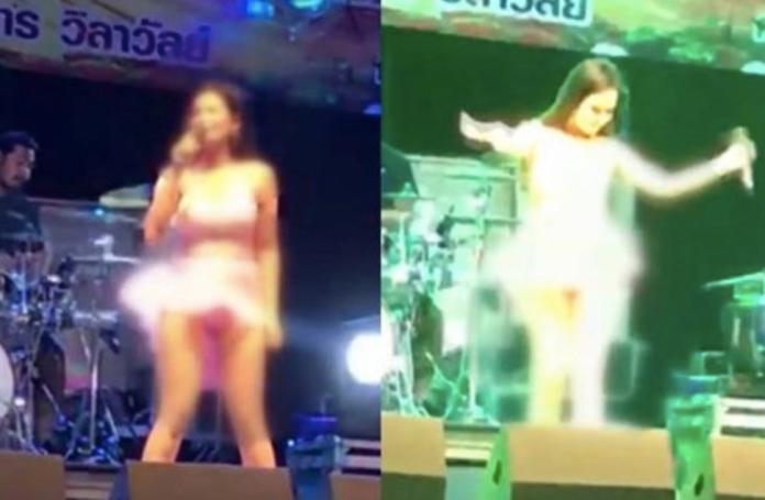 影/<b>女歌手</b>忘穿內褲?短裙熱舞下體也出來「打招呼」