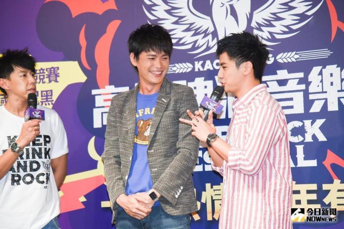 ▲黃鐙輝、曾子余出席高雄啤酒音樂節記者會。(圖/記者陳明安攝,2018.06.05)