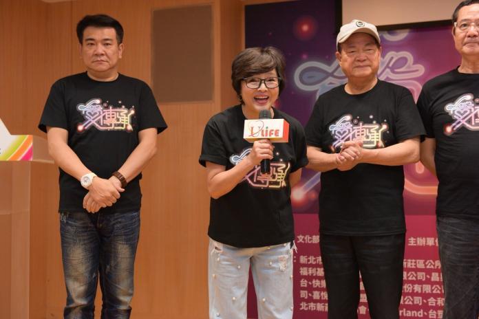 ▲紀寶如(左二)心疼好友狄鶯。(圖/台灣優質生命協會提供 , 2018.6.5)