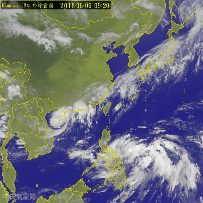 ▲輕颱艾維尼今( 6 )日上午 8 點形成,暫時對台灣天氣無直接影響。(圖/氣象局)