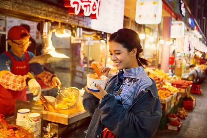 ▲宋芸樺在釜山難得感受到旅遊的悠閒。(圖/群星瑞智,2018.06.06)