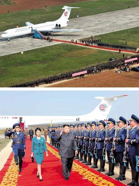 ▲北韓領導人金正恩 IL-62M 「蒼鷹一號」專機。(圖/北韓勞動新聞)