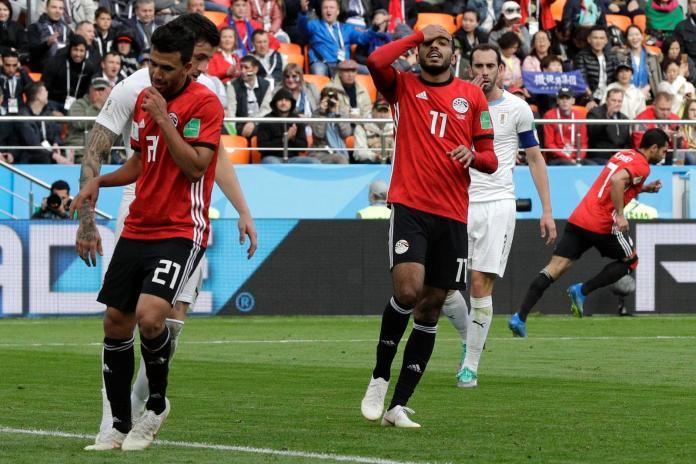 ▲埃及隊世界盃首戰對上烏拉圭,最後以 0:1 輸球。(圖/達志影像/美聯社)