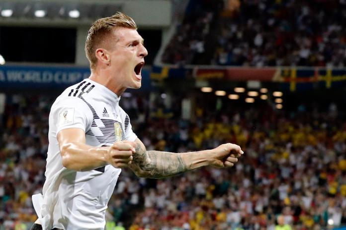▲德國核心中場Toni Kroos絕殺瑞典。(圖/美聯社/達志影像)