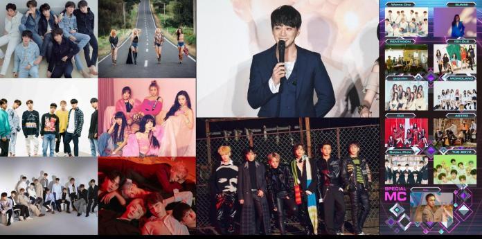 ▲本周將有131位韓星攻台開唱。(圖/JUST LIVE、寬宏藝術、TS娛樂、資料照)