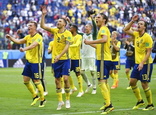 ▲瑞典睽違24年晉級8強賽。(圖/美聯社/達志影像)