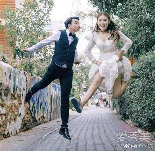 ▲劉潔才剛和男友拍完婚照,婚禮正在籌備階段。(圖/翻攝微博, 2018.07.17)