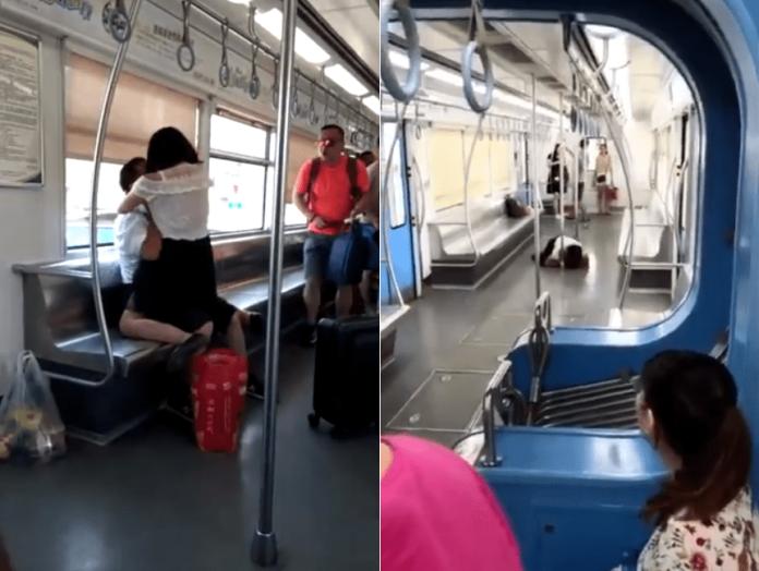 真實版《屍速列車》!女子狠咬乘客臉再趴地舔血