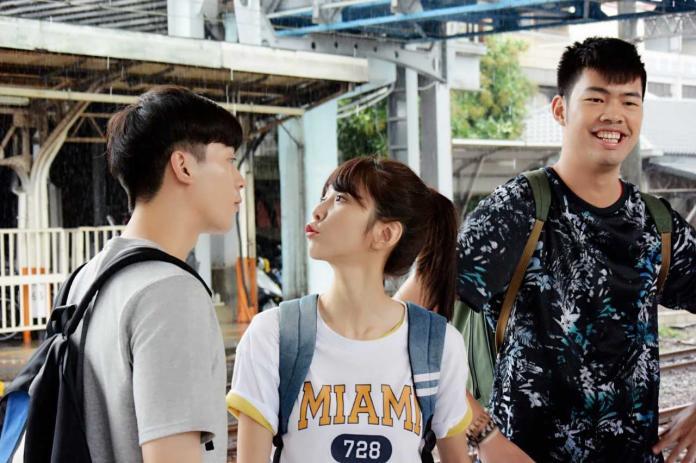▲小樂(左起)、邵雨薇、陳大天在劇中一起北上打拚。(圖/東森提供,2018.07.21)