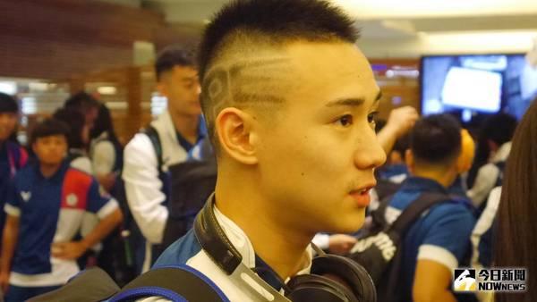 亞運/羽球男神<b>楊博涵</b>出征亞運 特殊髮型愛台灣