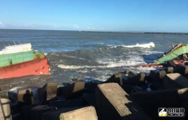嘉明2號受西南湧浪衝擊斷裂 無油污外洩