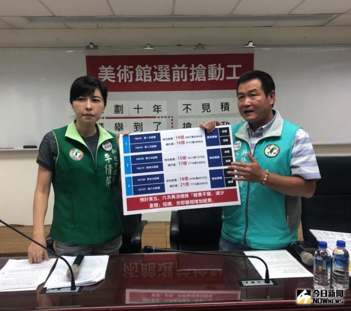 <b>李倩萍</b>、羅文崇質疑美術館選前搶動工 新北:沒政治考量