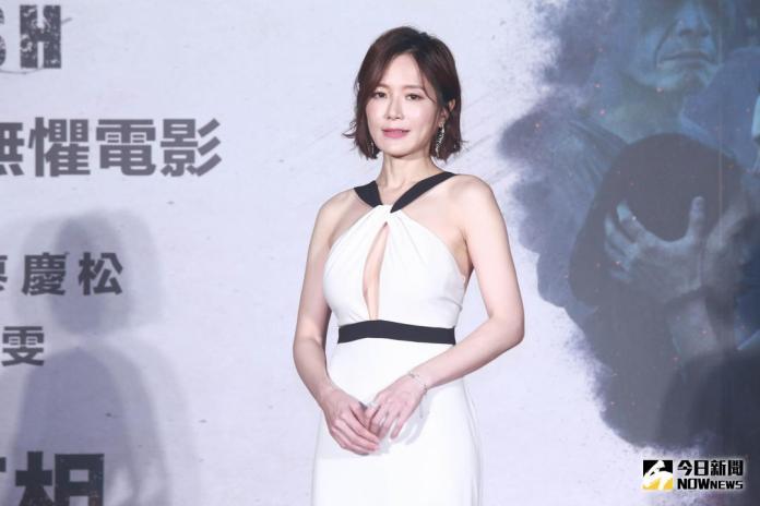 ▲尹馨出席電影《引爆點》首映會。(圖/記者葉政勳攝 , 2018.08.30)