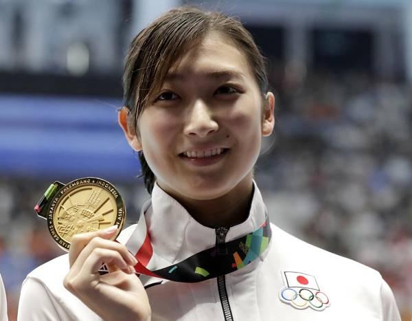 ▲2018雅加達亞運MVP,日本泳后池江璃花子。(圖/美聯社/達志影像)