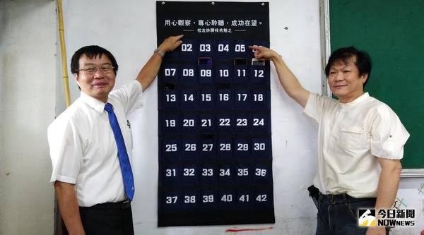 ▲北港高中這學期開始於每間班級教室設置養「機」袋。(圖/記者洪佳伶攝 , 2018.09.01\\)
