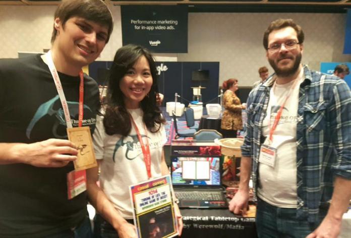 ▲狄宙威(左一)與廖洧岑(中),出席Indie Prize競賽。(圖/公關照片)