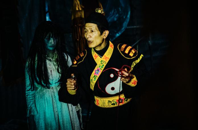▲▼夏于喬(上圖)和李亞臻(下圖左)在片中都有「鬼演技」。(圖/華影,2018.09.09)