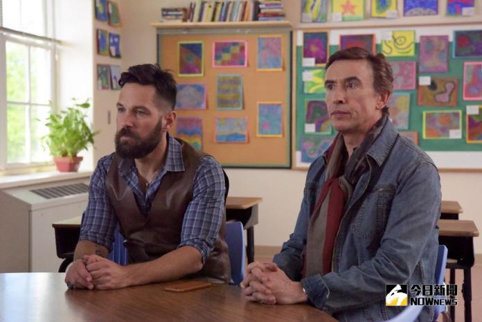 ▲保羅路德(左)全新落腮鬍造型,被戲稱撞臉「鬍鬚張」。(圖/甲上,2018.09.10)