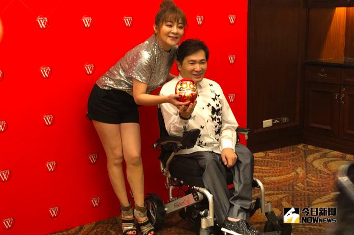 蔡義德在台北舉辦發片記者會,王彩樺現身站台。(圖/記者吳雨婕攝, 2018.09.11)