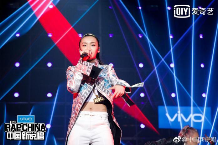 Lexie劉柏辛是四強中唯一的女性歌手。(圖/翻攝自《中國新說唱》官方微博 , 2018.9.12)