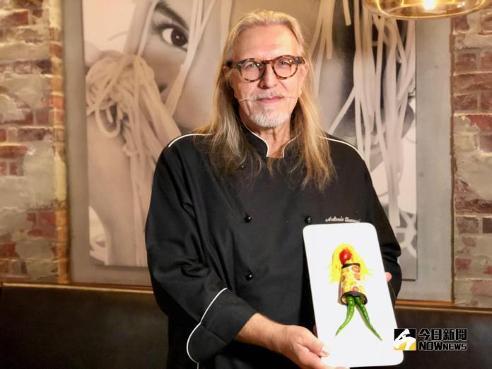 彩色義大利麵來作畫 李奧納多也愛吃他的料理