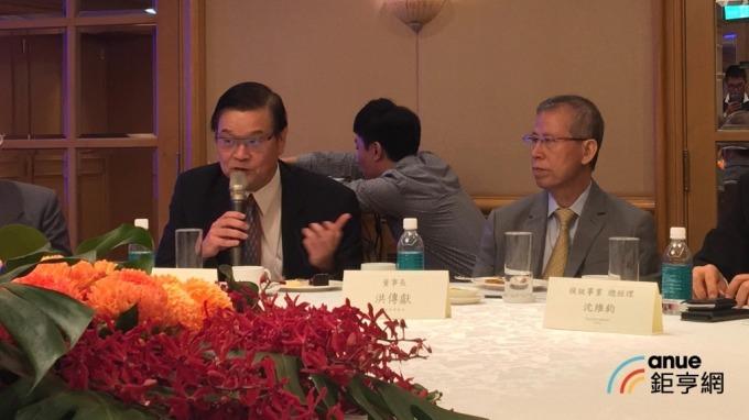 ▲ 左起為聯合再生能源執行長潘文輝、董座洪傳獻。(鉅亨網資料照)