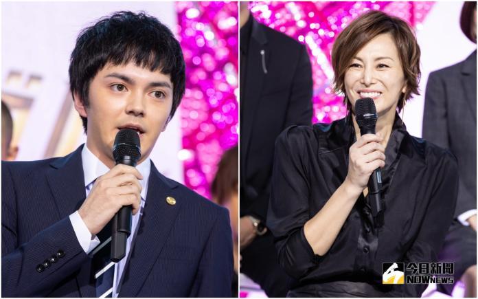 ▲林遣都(左)喜歡吃螃蟹,米倉涼子決定帶他去吃。(圖/KKTV, 2018.10.2)