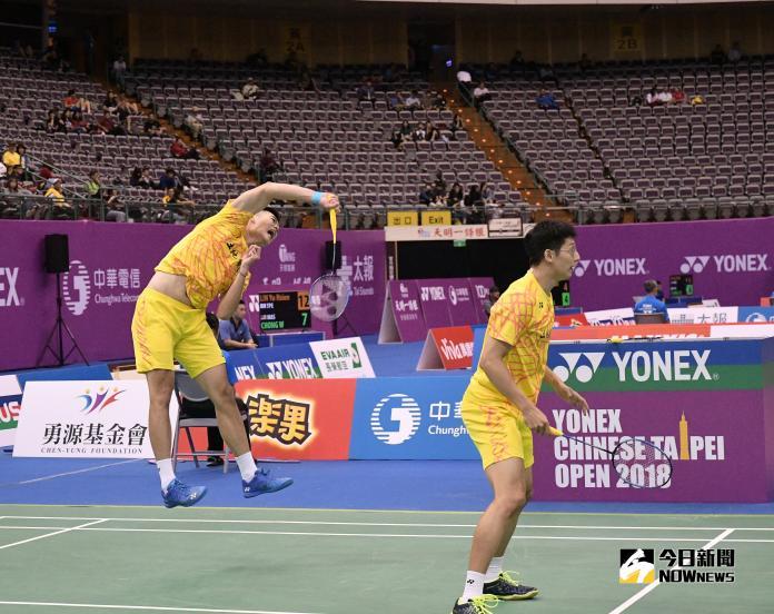 ▲台灣羽球男雙「雙麟配」王齊麟(左)、陳宏麟。(圖/大會提供)