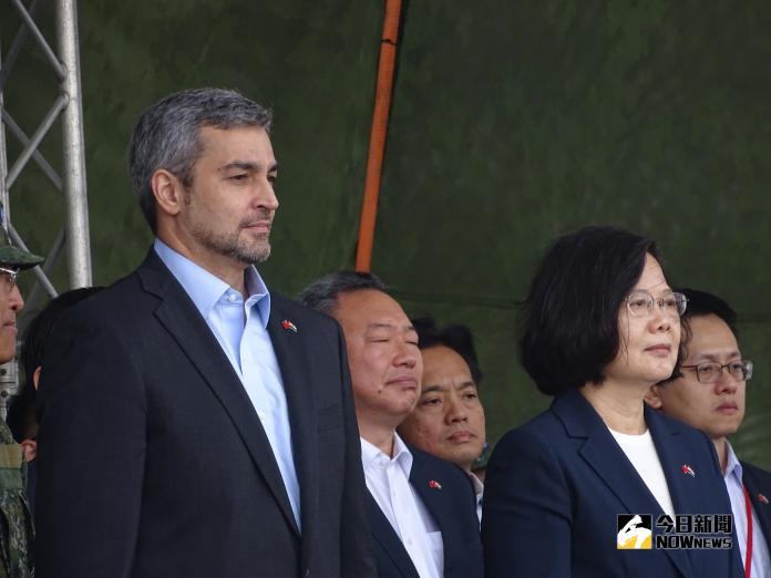 ▲巴拉圭共和國總統阿布鐸(左)來台參加107年國慶。(圖/記者呂炯昌攝, 2018.10.9)