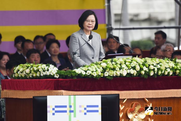 107年國慶大會,總統蔡英文發表演說(圖/記者陳明安攝,2018.10.10)
