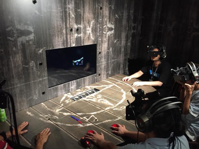 ▲南瓜虛擬科技開發的VR遊戲【禁忌】實景。(圖/記者蔡佳宏翻攝,2018.10.11)