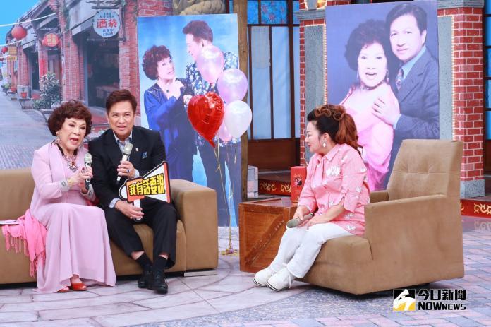 ▲周遊(左起)、李朝永婚後,首度錄製節目。(圖/中視提供,2018.10.12)
