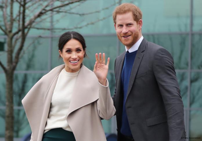 ▲英國哈利王子與妻子梅根。(圖/翻攝自推特@KensingtonRoyal